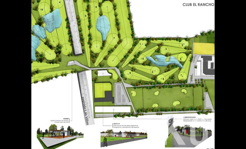 Club El Rancho Plan Maestro Arquitectura Colombia